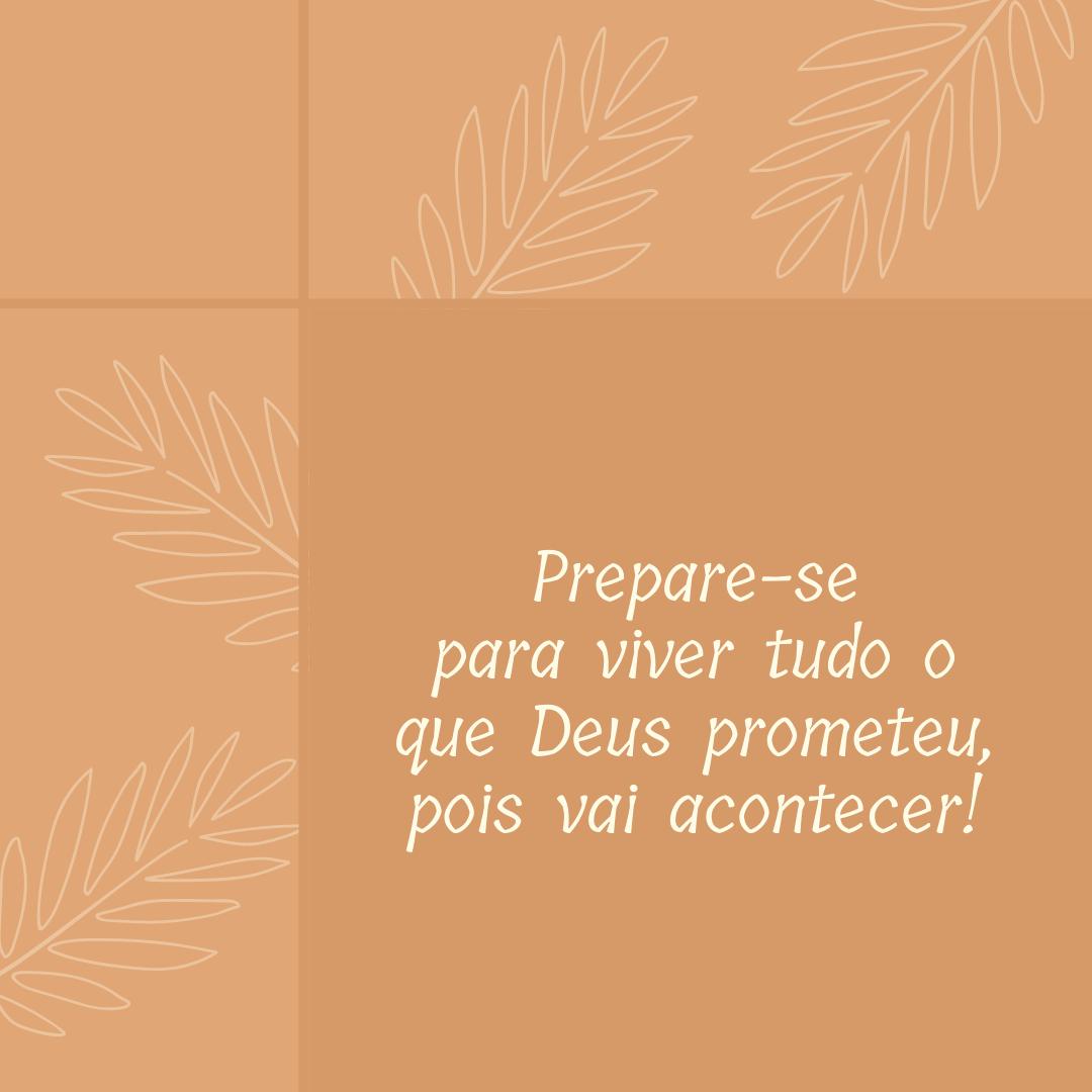 Prepare-se para viver tudo o que Deus prometeu, pois vai acontecer!