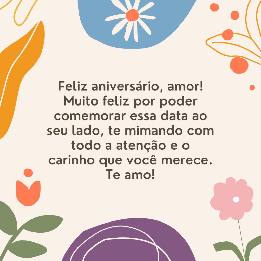 Feliz aniversário, amor